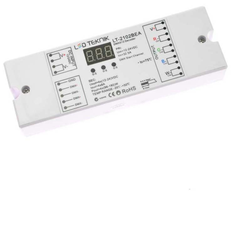 4 Channel DMX Decoder 8A/Channel - World of Thought